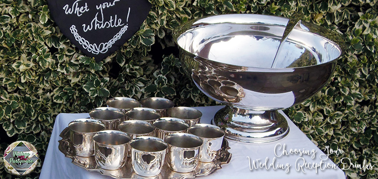 Boho Drinks Station Silver Punch Bowl Choosing Your Wedding Reception Drinks Vintage Partyware Blog Wedding Hire Norfolk