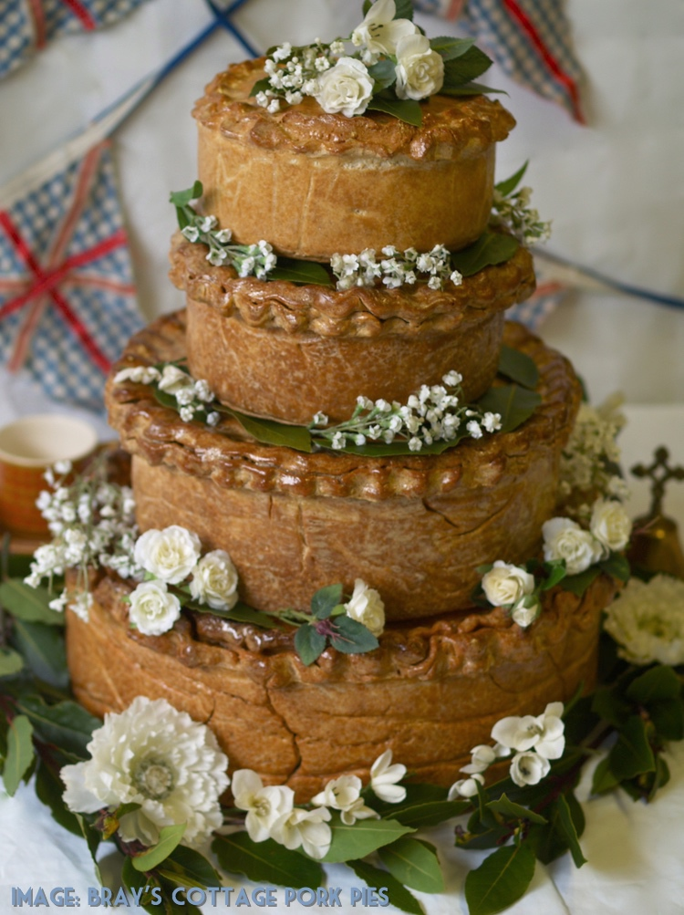 Brays Cottage Pork Pie Wedding Cake - Vintage Partyware Blog - Alternative Wedding Cake - Wedding Hire Norfolk