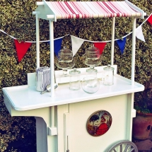 Candy Cart Hire Wedding Party Norfolk - Vintage Partyware