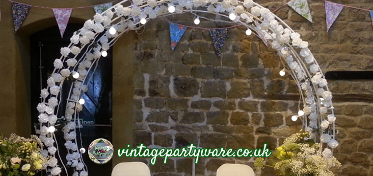 Ceremony Arch Wedding Altar Finishing Touches Wedding Details Not To Overlook Vintage Partyware Wedding Decorations Hire Norfolk
