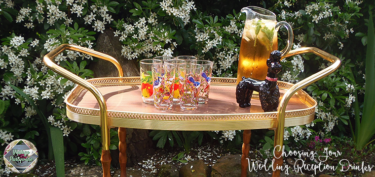 Drinks Trolley Choosing Your Wedding Reception Drinks Vintage Partyware Blog Wedding Hire Norfolk