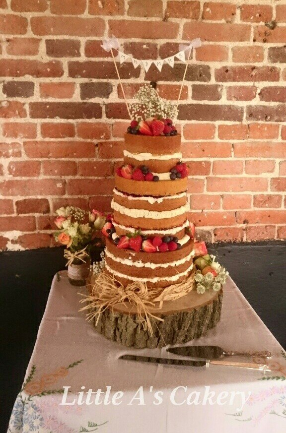 Naked Wedding Cake - Vintage Partyware Blog - Alternative Wedding Cake - Wedding Hire Norfolk