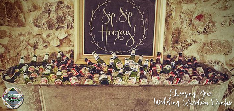 Choosing Your Wedding Reception Drinks | Vintage Partyware