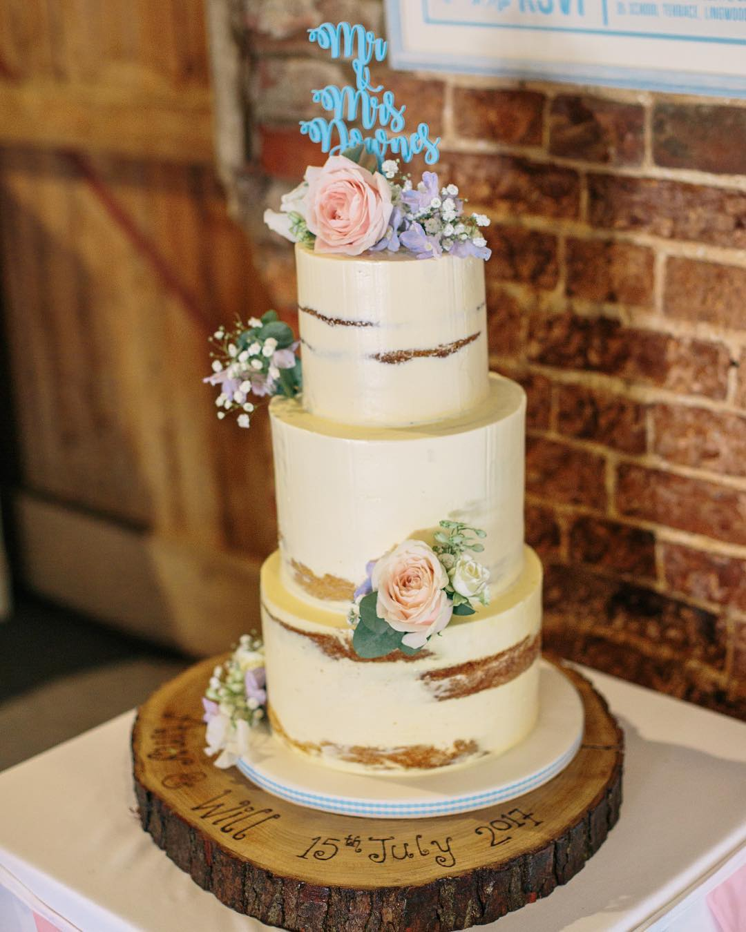 Semi Naked Cake Choosing Your Wedding Cake Guest Blog Post Ellies Cakery Wymondham Vintage Partyware Wedding Decoration Prop Hire Norfolk