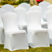 Stretch Fitted Wedding Chair Covers Bunting Table Linen Hire Norfolk Vintage Partyware Wedding Decorations Props Kings Lynn Norwich