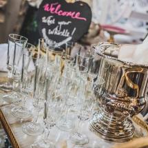 Vases Vessels Hire Norfolk - Champagne Glasses Wedding Drinks - Vintage Partyware