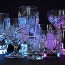 Vases Vessels Hire Norfolk - Crystal Glasses - Vintage Partyware