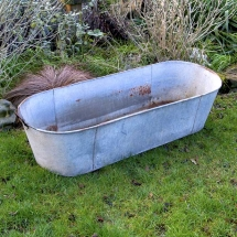 Vases Vessels Hire Norfolk - Large Tin Bath - Vintage Partyware