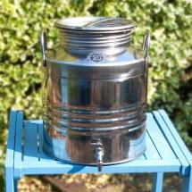Vases Vessels Hire Norfolk - Rustic Metal Drinks Dispenser Wedding Drinks - Vintage Partyware