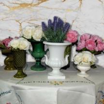 Vases Vessels Hire Norfolk - Table Centrepiece Vintage Vase Posy - Vintage Partyware