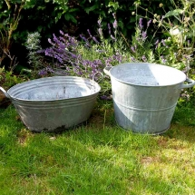 Vases Vessels Hire Norfolk - Tin Bath - Vintage Partyware