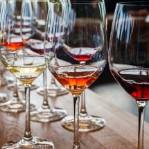 Vases Vessels Hire Norfolk - Wine Glasses Wedding Drinks - Vintage Partyware