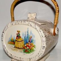 Vintage China Hire Norfolk Biscuit Barrel Vintage Partyware Wedding Hire