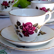 Vintage China Hire Norfolk Matching Trio Vintage Partyware Wedding Hire