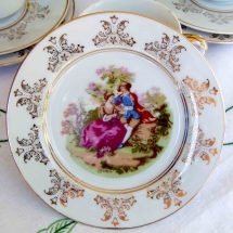 Vintage China Hire Norfolk cake plate Vintage Partyware Wedding Hire