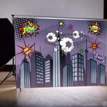Comic Backdrop Wedding Games Hire Norfolk Vintage Partyware Event Decorations Kings Lynn Norwich