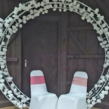 Wedding Arch Hire Norfolk - Round Arch - Vintage Partyware