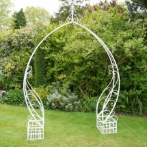 Wedding Arch Hire Norfolk - Scrolling Arch - Vintage Partyware