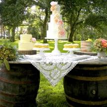 Wedding Furniture Hire Norfolk - Barrel Table - Vintage Partyware
