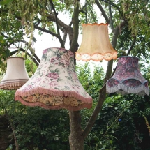 Wedding Furniture Hire Norfolk - Lampshades - Vintage Partyware