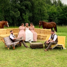 Wedding Furniture Hire Norfolk - Pallet Bench High Back Rustic Seating - Vintage Partyware