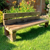 Wedding Furniture Hire Norfolk - Pallet Bench Rustic Seating - Vintage Partyware