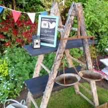 Wedding Furniture Hire Norfolk - Step Ladders - Vintage Partyware