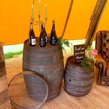 Wedding Furniture Hire Norfolk - Whisky Barrels - Vintage Partyware