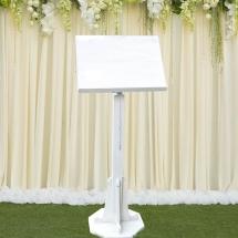 Wedding Furniture Hire Norfolk - White Chapel Lectern - Vintage Partyware