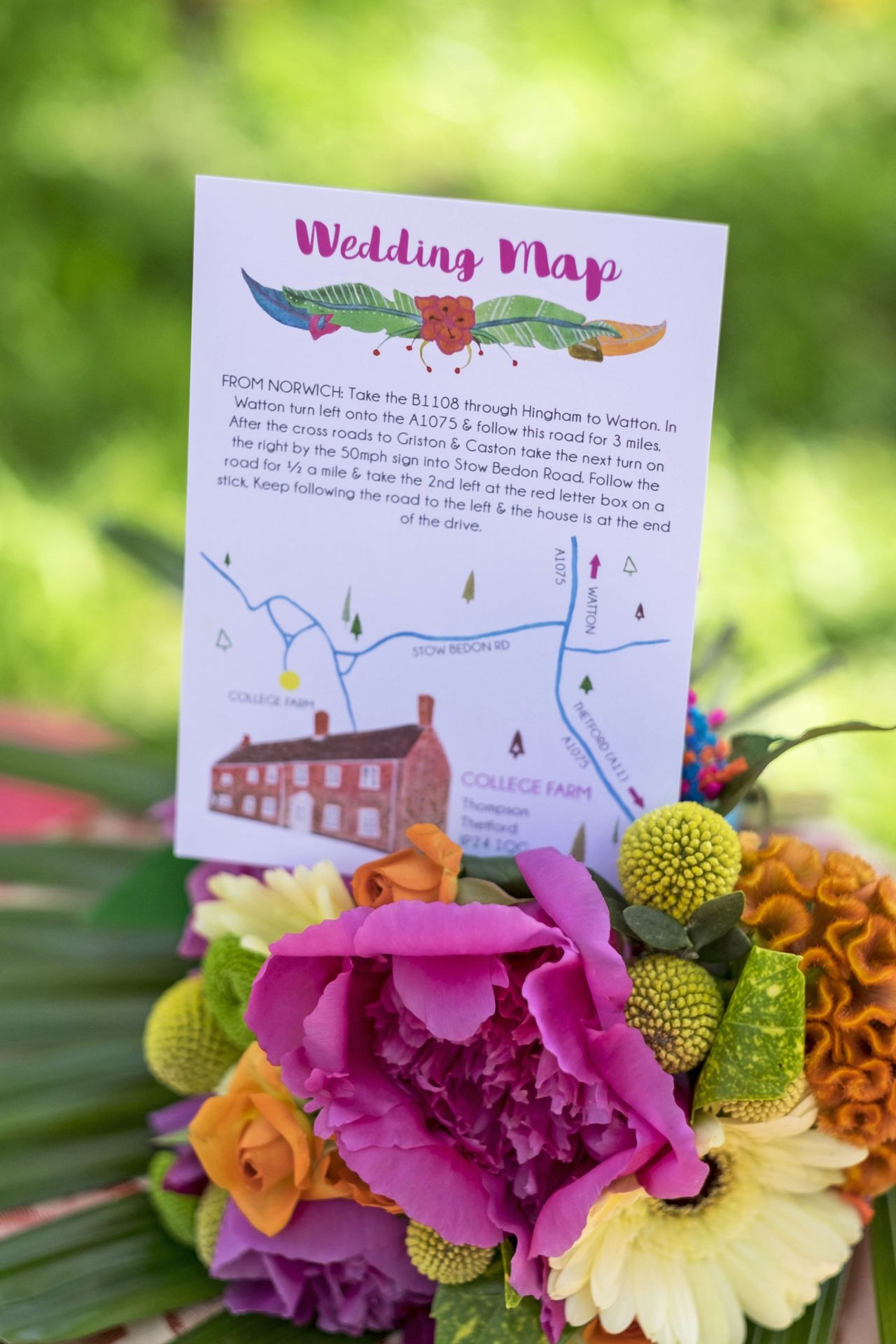 Wedding Map Vintage Partyware Blog Wedding Hire Norfolk