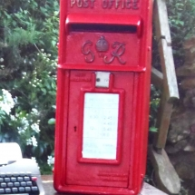 Wedding Post Box Hire Red Royal Mail George VI Vintage Partyware Wedding Decoration Hire Norfolk