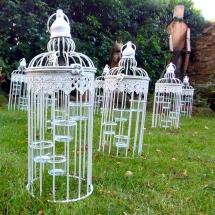 Birdcage Tea Light Holder Wedding Lighting Hire Norfolk Vintage Partyware Wedding Decorations Props