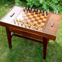 Chess Draughts Table Wedding Games Hire Norfolk Vintage Partyware Event Decorations Kings Lynn Norwich