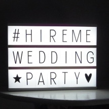 Cinema Light Box Wedding Lighting Hire Norfolk Vintage Partyware Wedding Decorations Props