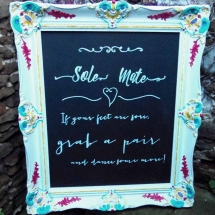 Colourful Framed Chalkboard Hand Lettered Wedding Sign Hire Wedding Signage Norfolk Vintage Partyware