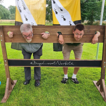 Double Wooden Stocks Pillory Throw Sponge Wedding Games Hire Norfolk Vintage Partyware Event Decorations Kings Lynn Norwich
