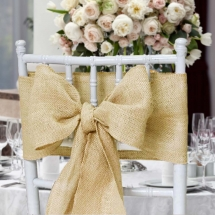 Hessian Burlap Sash Bow Wedding Chair Covers Bunting Table Linen Hire Norfolk Vintage Partyware Wedding Decorations Props Kings Lynn Norwich