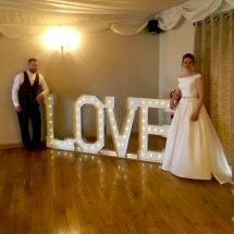 LOVE Letters Wedding Lighting Hire Norfolk Vintage Partyware Wedding Decorations Props
