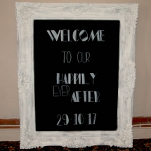 Large Framed Chalkboard Wedding Sign Hire Wedding Signage Norfolk Vintage Partyware