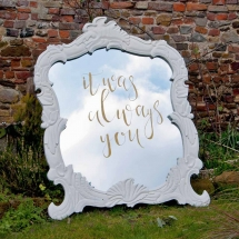 Large Ornate Mirror Wedding Sign Hire Wedding Signage Norfolk Vintage Partyware
