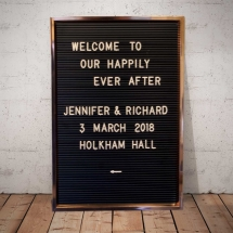 Retro Letter Board Wedding Sign Hire Wedding Signage Norfolk Vintage Partyware