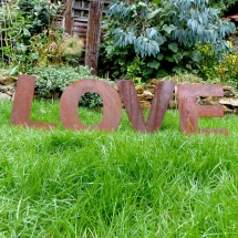 Rustic LOVE Letters Wedding Sign Hire Wedding Signage Norfolk Vintage Partyware