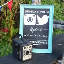 Small Frames Chalkboard Material Printed Wedding Sign Hire Wedding Signage Norfolk Vintage Partyware