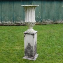 Vases Vessels Hire Norfolk - Aged Garden Urn with Pedestal - Vintage Partyware
