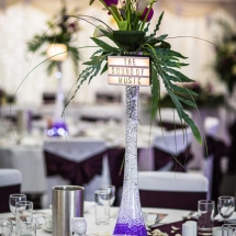 Vases Vessels Hire Norfolk - Glass tall lily vase centrepiece Wedding Flowers - Vintage Partyware