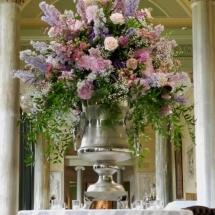 Vases Vessels Hire Norfolk - Large Lions Head Urn Flowers - Vintage Partyware