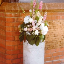 Vases Vessels Hire Norfolk - Milk Churn Wedding Flowers - Vintage Partyware
