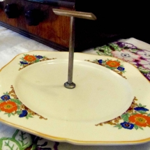 Vintage China Hire Single Tier Cake Stand Vintage Partyware Wedding Hire