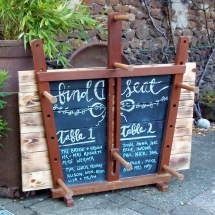 Vintage Inkle Floor Loom Chalkboard Wedding Sign Hire Wedding Signage Norfolk Vintage Partyware
