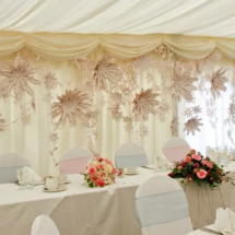 Wedding Arch Hire Norfolk - Paper Flower Wall Backdrop - Vintage Partyware